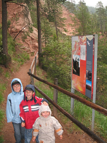 Gut beschilderter Trail entlang des Canyons - besonders interessant auch für die Kleinen