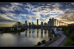 Nudie Beach (Reedy Photography) Tags: sunset australia brisbane brisbaneriver storybridge canon1022mm reedyphotography