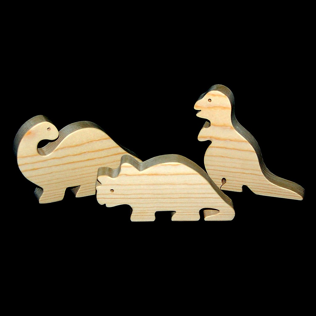 Wood Toy Dinosaurs