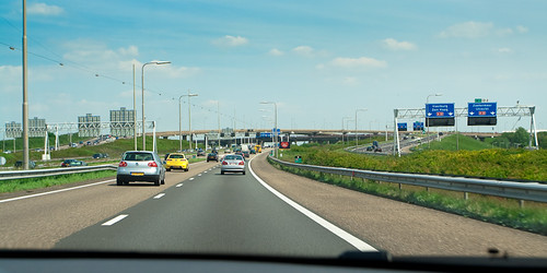 Highway towards Amsterdam