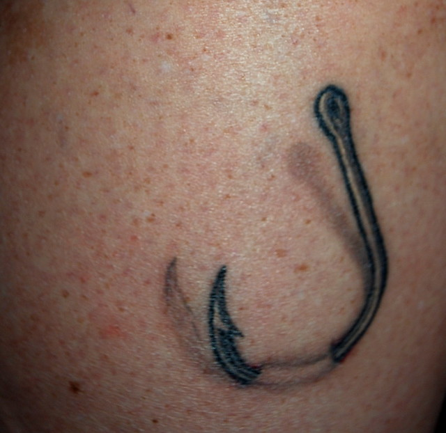 3-D Hook Tattoo