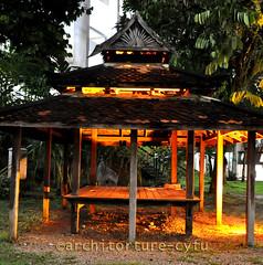 wakaf (architorture republik) Tags: architecture square tiles utm bina kayu alam skudai wakaf cengal fakulti singgora