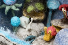 Detail of Snails (Gravitational Wool) Tags: wool felted hand critter felt creature