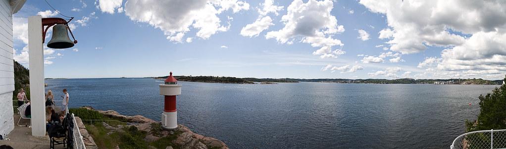 Panorama fra Odderøya fyr