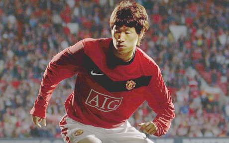 Ji Sung Park in 2009/10 home kit