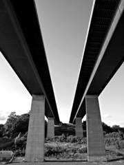 bridge (Tadgh ó Maoildearg) Tags: bridge bw germany concrete canal vanishingpoint perspective kaiser parallel kiel holtenau nordostsee