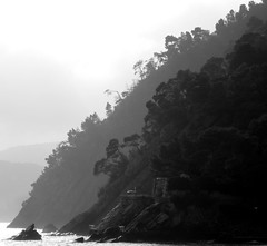Where the sea meets the land (Fabrizio Veneziano) Tags: summer blackandwhite bw italy riviera italia mare estate noiretblanc liguria topc50 nb bn explore t italie biancoenero rivieradilevante levante zoagli cotcmostinteresting blackwhitephotos