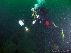 Chris on the Laurentic (damoj5) Tags: inon fujif40 laurentic donegaldiving