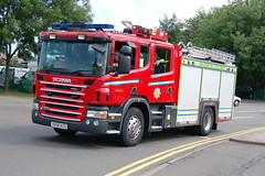 Warwickshire Fire & Rescue Service Scania VX58ACO - Nuneaton (dwb photos) Tags: nuneaton vx58aco