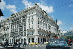 Ξενοδοχείον η Μεγάλη Βρεταννία στην Πλατεία Συντάγματος (venetia koussia) Tags: people athens greece immigrants acropolis citycentre springcolours