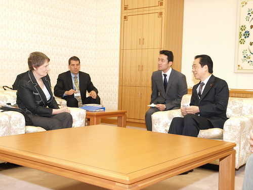 Meeting with PM Kan Naoto