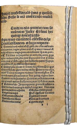 Incipit of Confessionale pro scholasticis et aliis multum utile