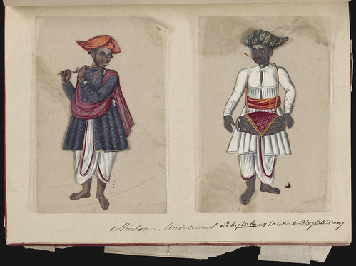 Hindoo musicians, Madura, 1837