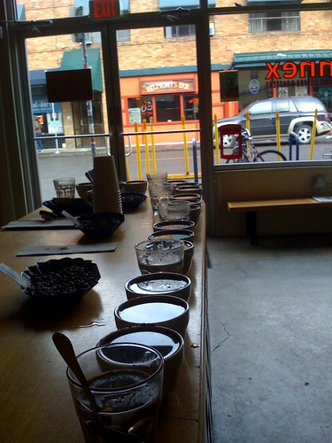 Stumptown Annex daily cupping