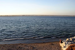 Pto. Madryn: sola en Punta Indio 2 (Ostrosky Photos) Tags: sunset summer people woman patagonia sol beach argentina look female atardecer bay sand rocks alone gente dusk stones relaxing playa verano relaxed contemplative madryn puertomadryn bahía veraneo ptomadryn puntaindio meditabunda