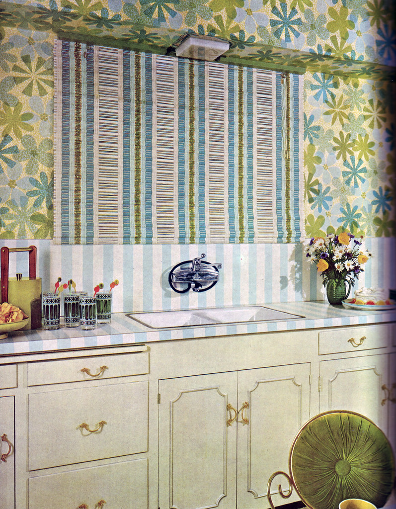 Stripes and Flowers Kitchen