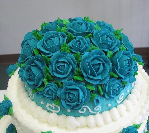turquoise wedding cakes ides
