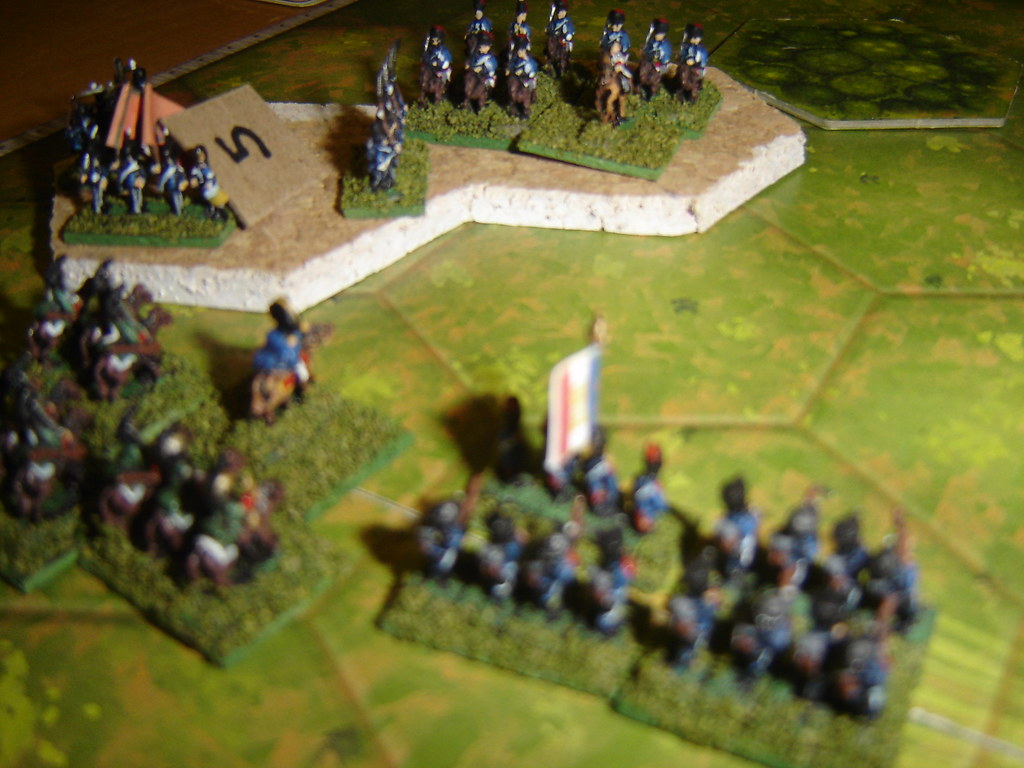 French light battalion fire into Portuguese in square