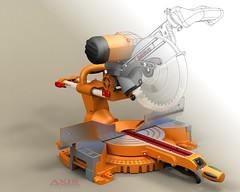 3DVIA - Miter Saw (threedvia) Tags: art 3d 3dart solidworks 3dmodel powertool 3dmodels photoworks mitersaw 3dvia robrodriguez 3dviafeaturedartist