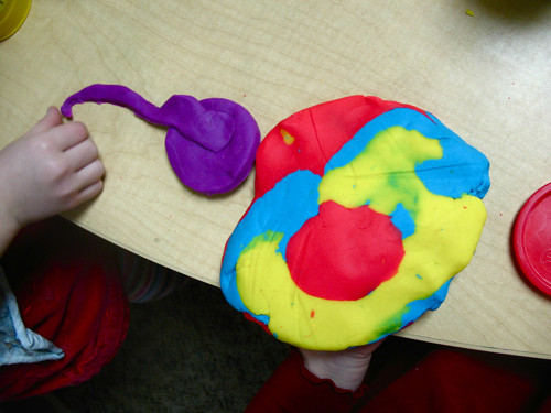 rainbow play doh