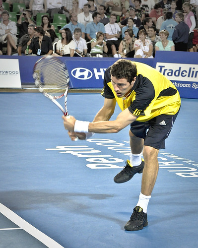 Marat Safin - Marat Safin and his trademark tennis backhand
