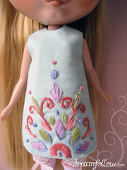 dress embroidery close up