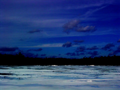 Moonlight Kiss (tumultuouswoman) Tags: blue trees light shadow moon white lake snow reflection art ice water beautiful silhouette night clouds contrast landscape march photo yahoo flickr glow gorgeous massachusetts poetic photograph midnight ethereal stunning moonlight haunting striking powerful snowscape