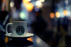 Just Another Drop (Mulia) Tags: coffee japan bokeh starbucks espresso yokohama tazzina cafexperiment cafexperimentcom