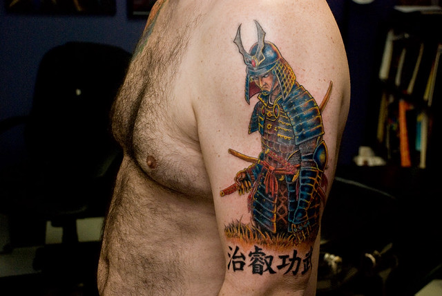 Samurai Tattoo. Tattoo done by Donald Purvis at Asgard Ink tattoo studio in
