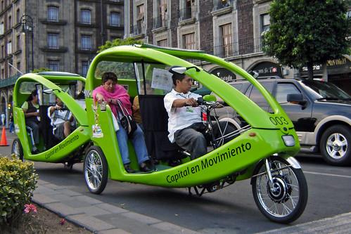 Nuevos bicitaxis verdes
