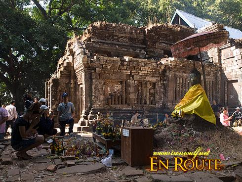 Wat Phu Champasak Festival Prayer