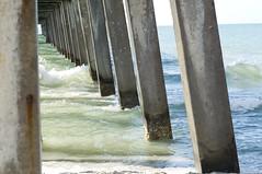 water colors - naples pier (unfocused mike) Tags: ocean beach water pier support surf waves gulf florida geometry beam naples column depth st