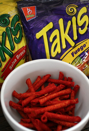 Naughty noshing: Takis