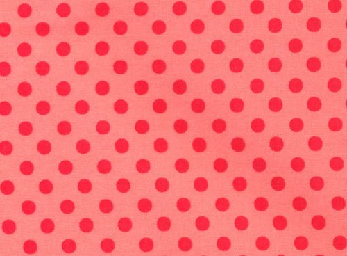 Lecien Color Basic Red Dots on Pink