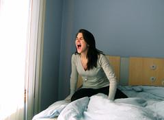 (ohmann alianne) Tags: blue light window self stars sweater bed yum emotion gray scream yell