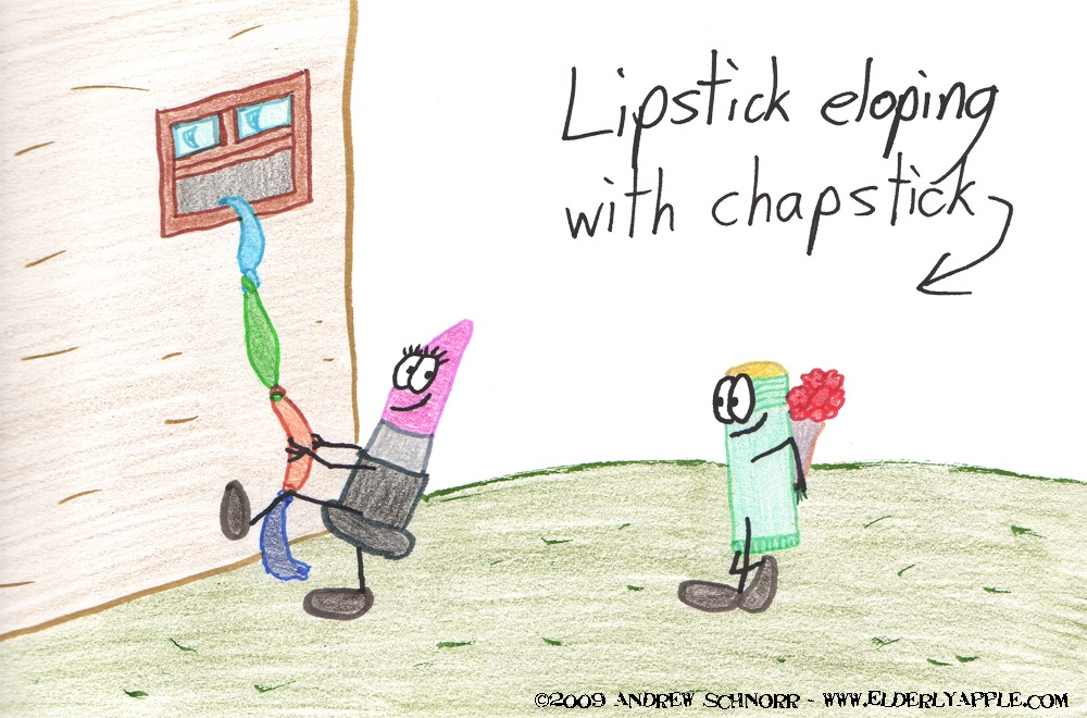 Lipstick Eloping with Chapstick
