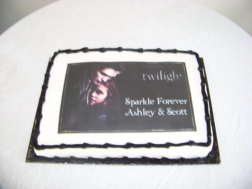 Twilight Bridal Shower Cake