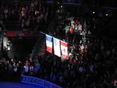 flags from men's medal ceremony