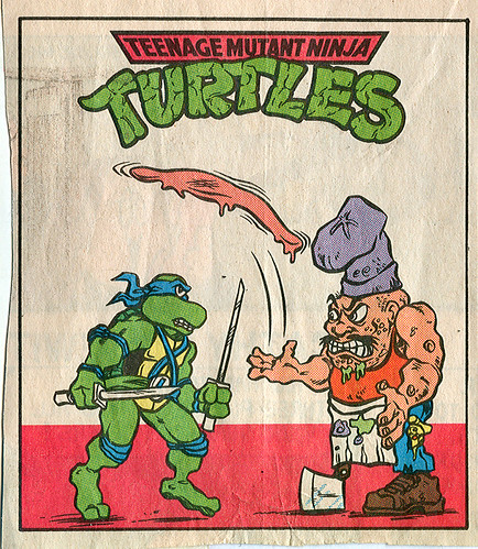 Teenage Mutant Ninja Turtles { newspaper strip } ..Leo V. Pizzaface ..art by Lawson - isolated :: 04121992