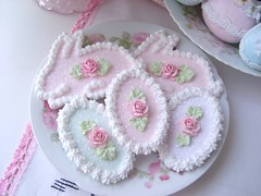 Faux Sugar Cookies, Bunnies and Eggs, Oh My !! (sweetnshabbyroses) Tags: pink roses food rabbit bunny easter cookie egg cottage fake sugar patisserie cupcake pastels pastry faux chic frosting shabby
