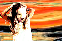 the scream (*k a t i e*) Tags: portrait art girl face hair nose eyes toddler moments child little sister mimi thescream littlesister bigsister aaaahhhh sistersister canoneos400ddigital kp73 katiepetef