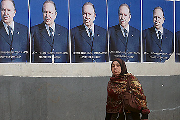 Campaign posters of President Abdelaziz Bouteflika in the North African state of Algeria. The country's people regularly vote on the future political leadership of the nation. by Pan-African News Wire File Photos