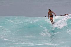 Wahini Hanging Ten Makaha October 2007 (sgblyth) Tags: ocean beach hawaii surf waves oahu tube tubes wave surfing longboard westside wahine longboarding vahine longboarder