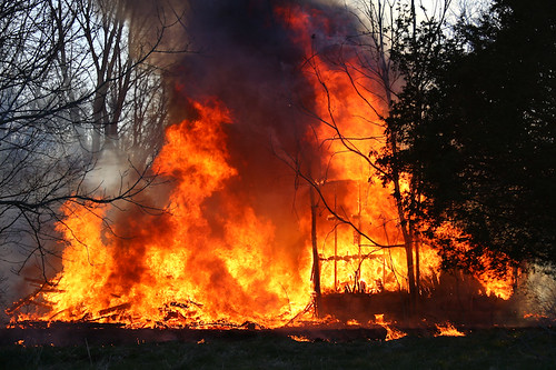 Dewey Road Barn Fire