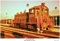 SP SW1200 2278 (Robert W. Thomson) Tags: sanfrancisco california railroad train diesel railway trains sp locomotive trainengine switcher southernpacific switchengine espee emd sw1200 sw12 fouraxle endcabswitcher
