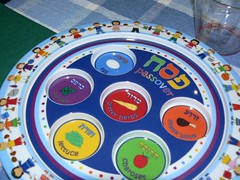 Colorful kid seder plate