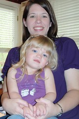 Catie & me in our purple for Maddie