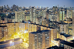 Electric Manhattan (Tony Shi.) Tags: nyc newyorkcity urban ny night living apartments manhattan condo u