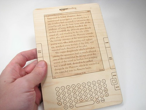 Amazon Kindling, A New Wooden Wireless Reading Device by