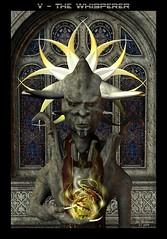 V - The Whisperer (Stefan Beckhusen) Tags: cards oracle high fortune deck v tarot priest telling mystic highpriest whisperer